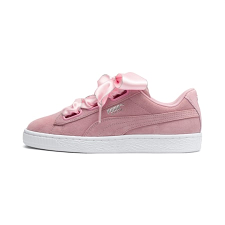 Suede Heart Galaxy Women's Sneakers, Pale Pink-Puma Silver, small