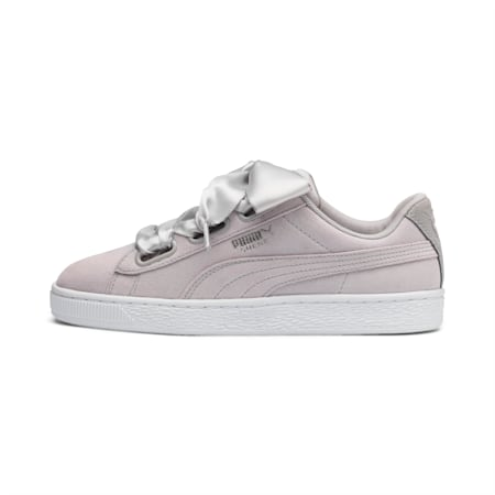 Suede Heart Galaxy Women's Sneakers, Gray Violet-Puma Silver, small