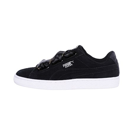 Suede Heart Galaxy Women's Sneakers, Puma Black-Puma Silver, small-IND