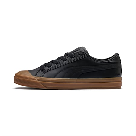 Capri Leather Shoes, Puma Black-Gum-Gum, small-IND