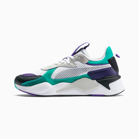RS-X Tech Sneaker, P Black-Spec Grn-Pri  Violet, small