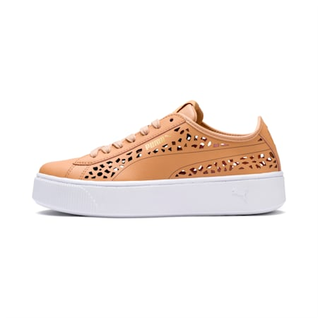 PUMA Vikky Stacked Laser Cut SoftFoam+ Women's Sneakers, Toast-Toast, small-IND