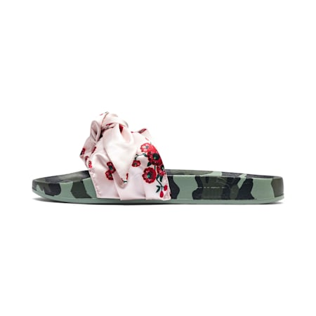 Leadcat 'Cherry Bombs' Satin Women's Sandals, Birch-Puma Black, small-SEA