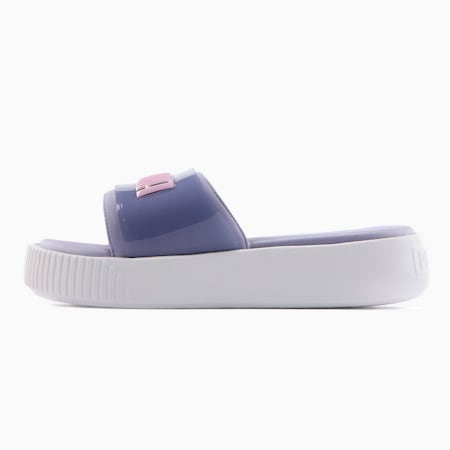 プラットフォーム スライド ファッション ウィメンズ サンダル, Sweet Lavender-Puma White, small-JPN