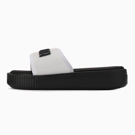 플랫폼 슬라이드 패션 우먼스, Puma White-Puma Black, small-KOR