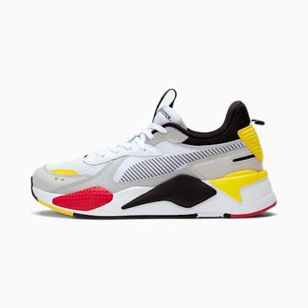 Zapatos deportivosRS-X Toys para hombre, Blanco-Negro-Cyber Yellow, pequeño