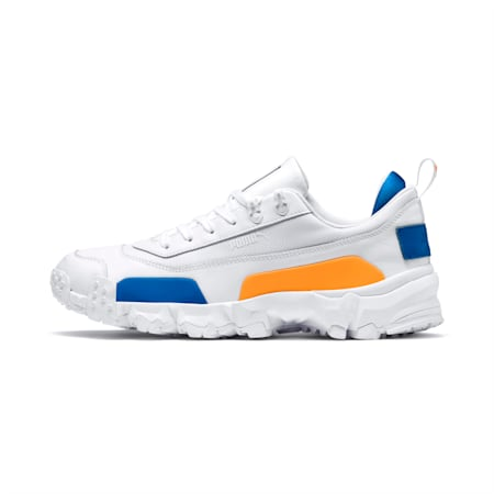 Trailfox Leather Sneakers, Puma White-Indigo Bunting, small