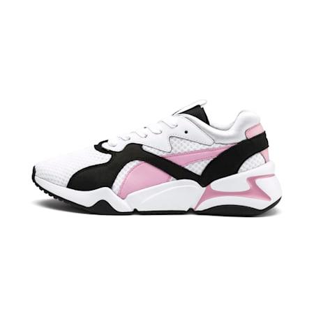 Nova '90s Bloc Women's Trainers, Puma White-Pale Pink, small-SEA