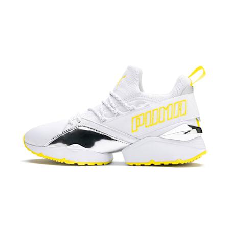 Muse Maia Trailblazer Metallic Women's Sneakers, Puma White-Blazing Yellow, small