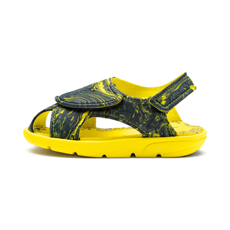 キッズ サマーサンダル 2 マーブル PS 17-21cm, Surf The Web-Blazing Yellow, small-JPN