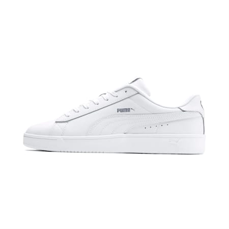 Court Breaker Derby Shoes, Puma White-Puma White-Silver, small-IND