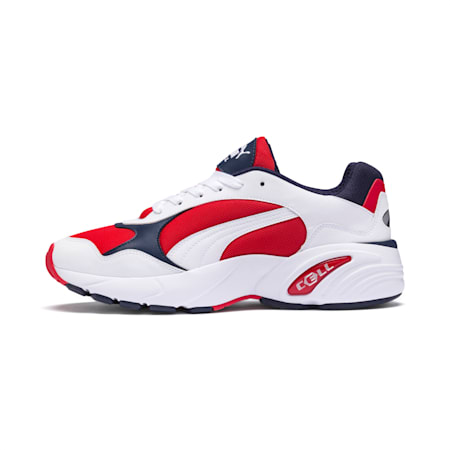 CELL Viper Sneakers, Puma White-High Risk Red, small