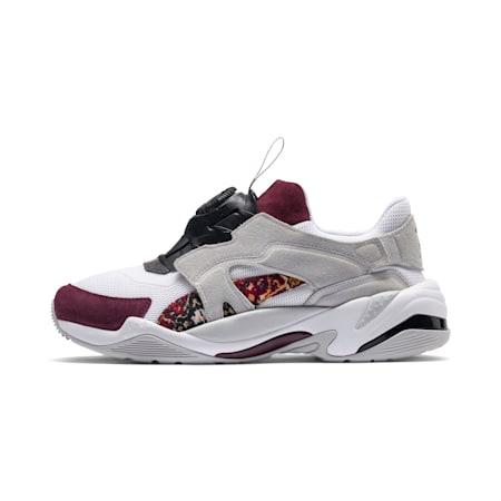 Zapatos deportivos PUMA x LES BENJAMINS Thunder DISC de hombre, Puma White-Glacier Gray, pequeño