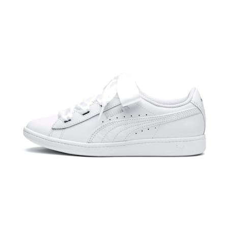PUMA Vikky Ribbon Satin Sneakers JR, Puma White-Puma White, small