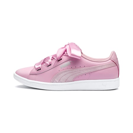 Vikky Ribbon Youth Girls' Trainers, Pale Pink-Pale Pink, small-SEA