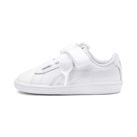 Vikky Ribbon Baby Girls' Trainers, Puma White-Puma White, small-SEA