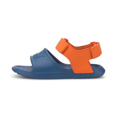 Divecat v2 Injex Kids' Sandals, Bright Cobalt-Firecracker, small-IND