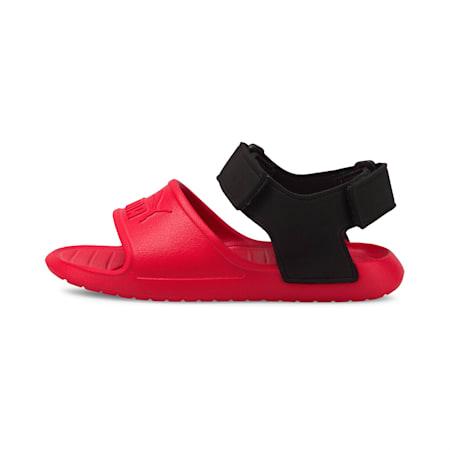 Divecat v2 Injex Kids' Sandals, Poppy Red-Puma Black, small-IND