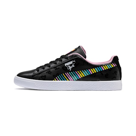 PUMA x BRADLEY THEODORE Clyde Trainers, Puma Black-PRISM PINK, small-SEA
