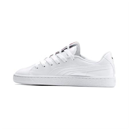Basket Crush Women's Sneakers, Puma White-Hibiscus, small