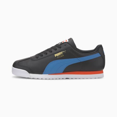 Roma Basic + Sneakers, Puma Black-Palace Blue, small-IND
