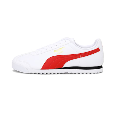 Roma Basic + CMEVA Sneakers, Puma White-High Risk Red, small-IND