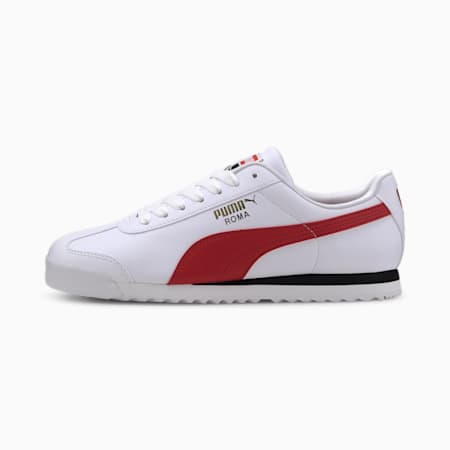 Roma Basic+ Sneakers, Puma White-High Risk Red, small