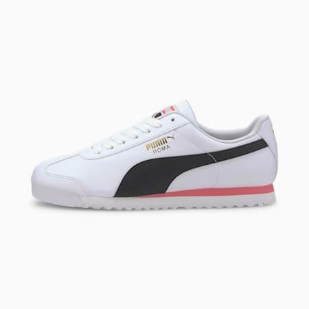 Zapatos deportivos Roma Basic+, Puma White-Bubblegum, pequeño