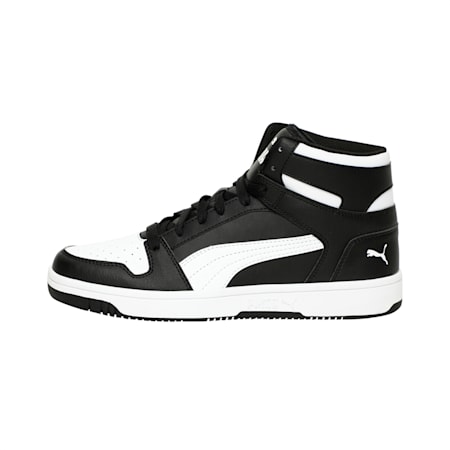 Rebound Lay Up Sneakers, Puma Black-Puma White, small-IND