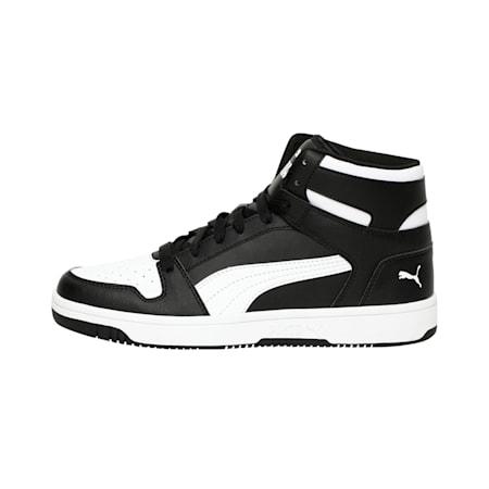 PUMA Rebound LayUp Men's Sneakers, Puma Black-Puma White, small
