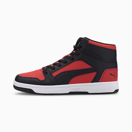 PUMA Rebound LayUp Men's Sneakers, High Risk Red-Black-White, small