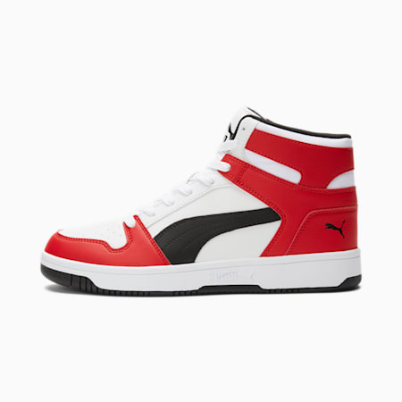 PUMA Rebound LayUp Sneakers, Puma White-Puma Black, small