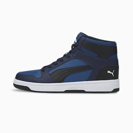Zapatos deportivos PUMA Rebound LayUp, Limoges-Puma Black-Peacoat-Puma White, pequeño