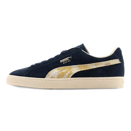 Suede MIJ Trainers, Peacoat-Puma Team Gold, small-SEA