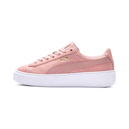 Suede Platform Shimmer Women's Sneakers, Bridal Rose-Puma White, small
