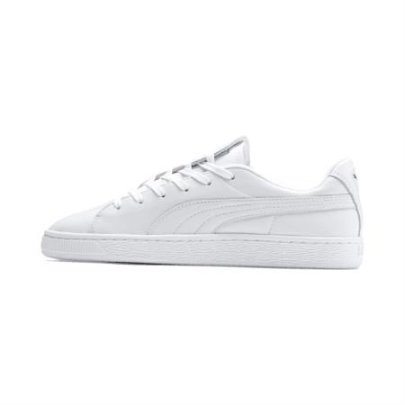 Basket Crush Emboss Women's Shoes, Puma White-Puma Silver, small-IND
