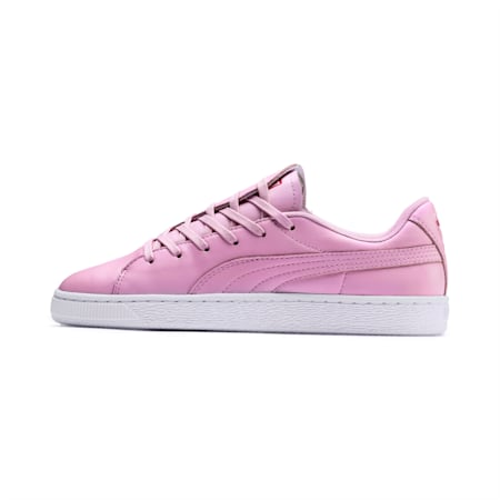 Basket Crush Emboss Heart Women's Sneakers, Pale Pink-Hibiscus, small