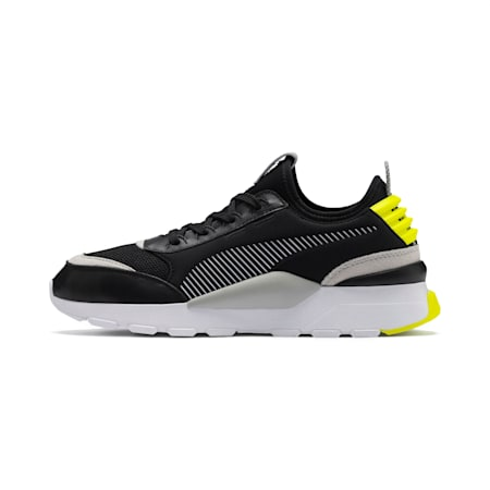 RS-0 Core Unisex Shoes, Puma Black-Gray Violet-Yellow Alert, small-IND