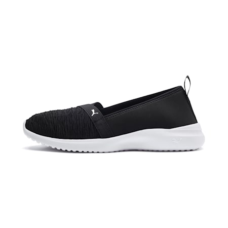 Adelina SoftFoam+ Women's Ballet Shoes, Puma Black-Puma Silver, small-IND