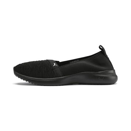 Adelina Women's Ballet Shoes, Puma Black-Puma Black-White, small