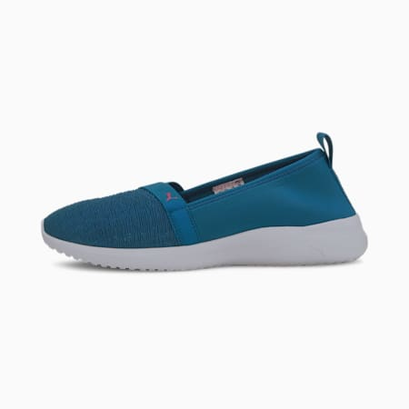 Adelina SoftFoam+ Women's Ballet Shoes, Digi-blue-Beetroot Purple, small-IND