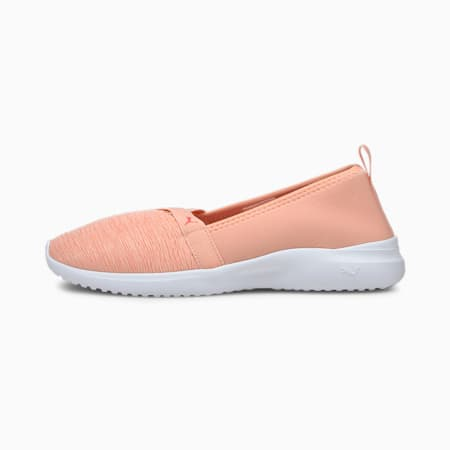 Adelina SoftFoam+ Women's Ballet Shoes, Apricot Blush-Coral-White, small-IND