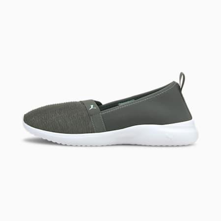 Adelina SoftFoam+ Women's Ballet Shoes, Dark Shadow-Eggshell Blue-Puma White, small-IND