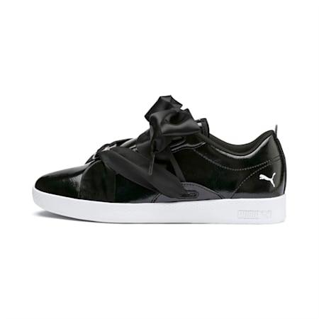 Smash BKL Patent Women's Shoes, Puma Black-White-Puma Silver, small-IND