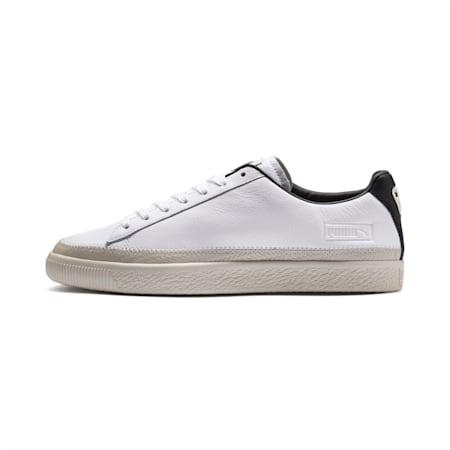 Basket Trim sportschoenen, Puma White-Whisper W-Black, small