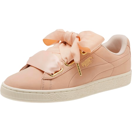Basket Heart Soft Women's Trainers, Cream Tan-Marshmallow, small-SEA