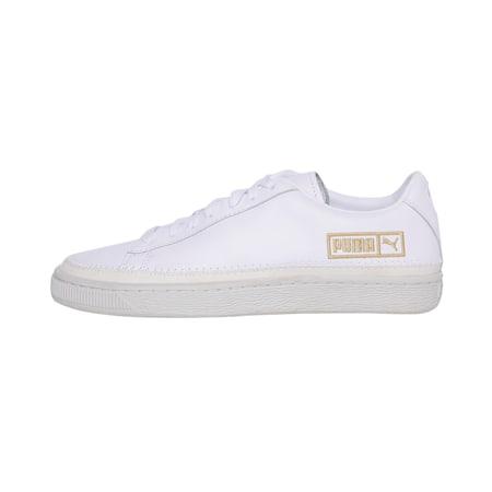 Basket Trim Metallic Women's Shoes, Puma White-Marshmallow, small-IND