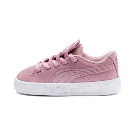 Suede Crush Kid Girls' Trainers, Pale Pink-Puma Silver, small-SEA