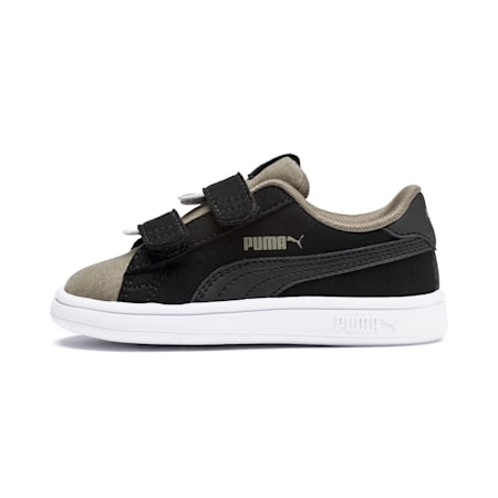 PUMA Smash v2 Monster Babies' Trainers, Puma Black-Burnt Olive, small-SEA
