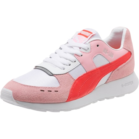 RS-150 Mesh Women's Sneakers, Pale Pink-Hibiscus, small